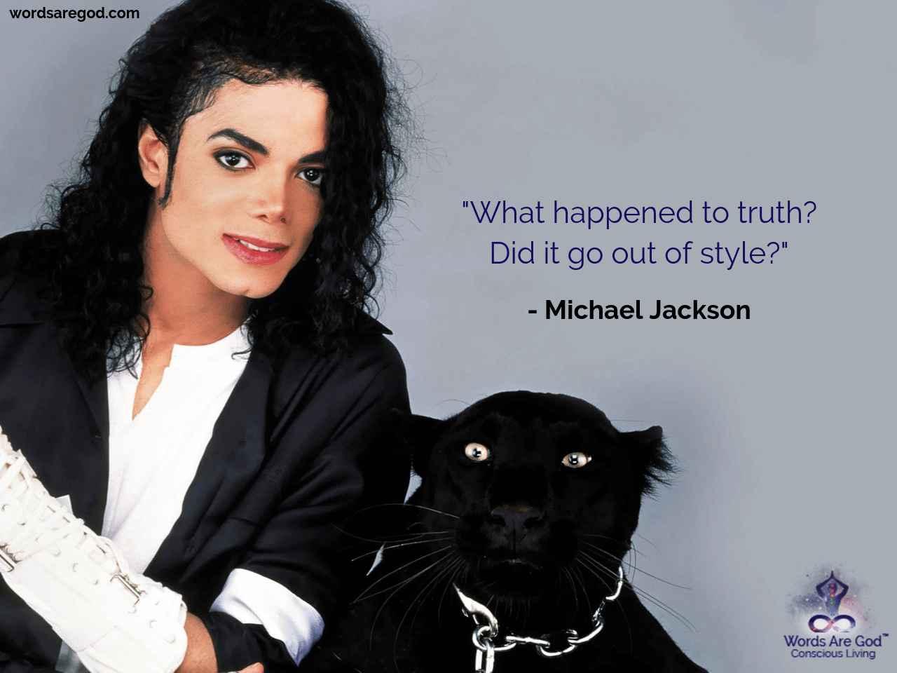 Michael Jackson Inspirational Quote by Michael Jackson