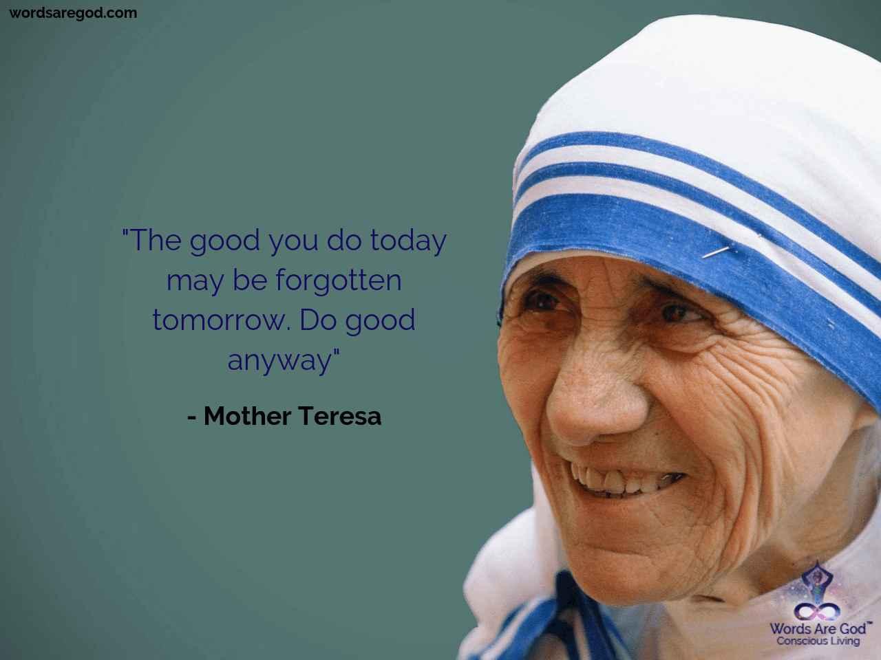 Mother teresa Inspirational Quote