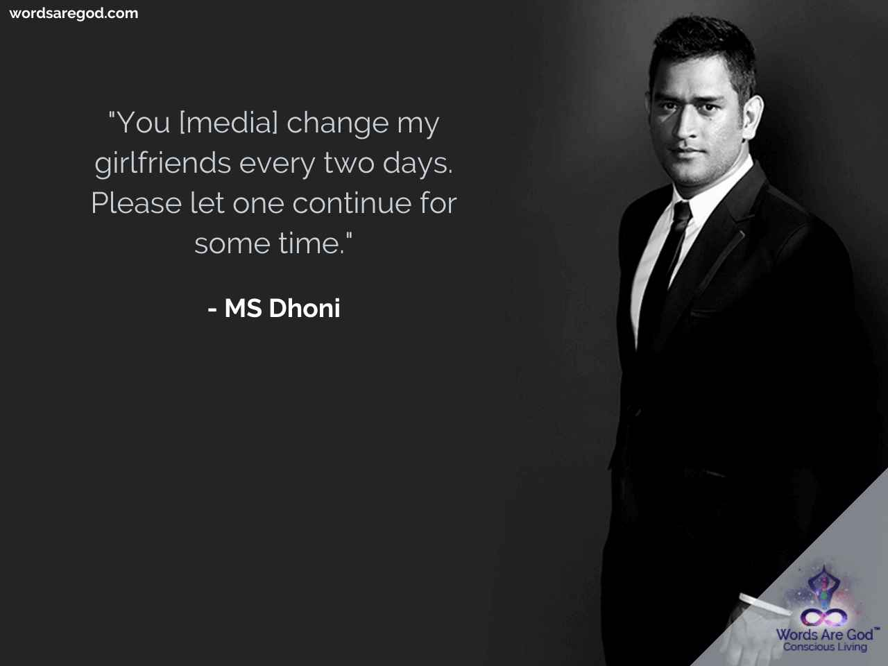 MS Dhoni   Inspirational Quote by MS Dhoni