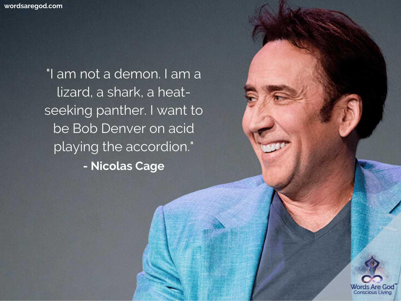 Nicolas Cage Best Quotes