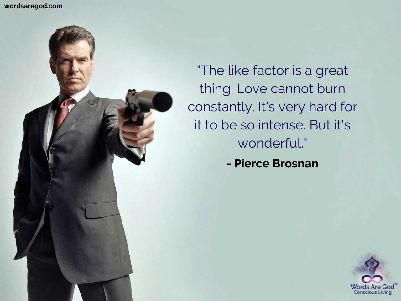 Pierce Brosnan Life Quotes by Pierce Brosnan