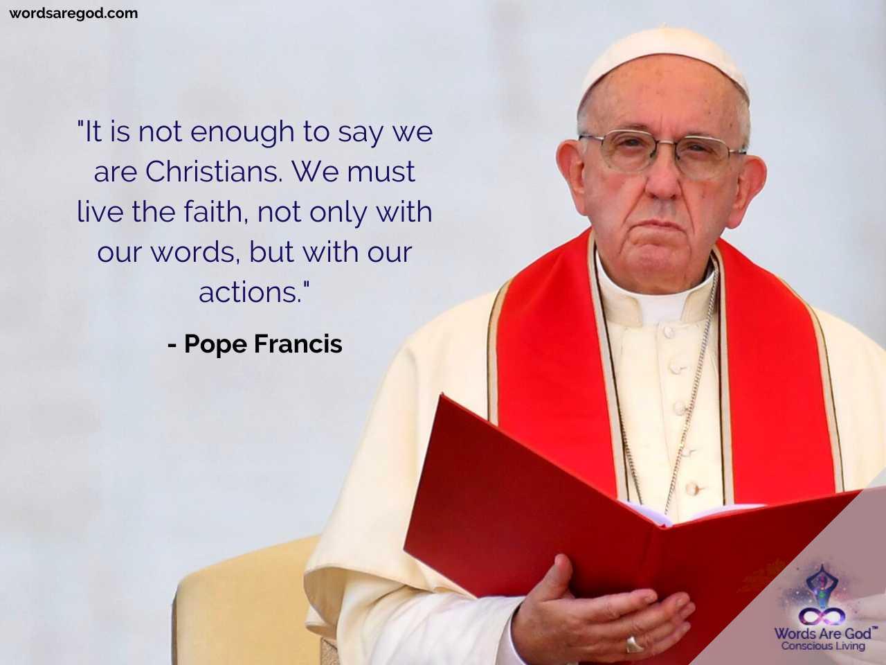 Pop Francis Life Quotes