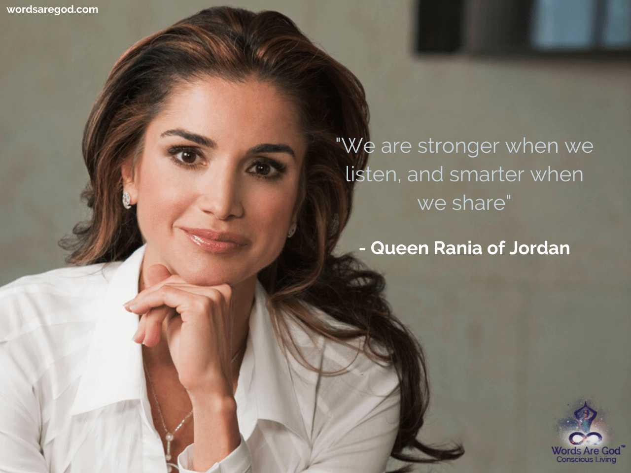 Queen Rania of Jordan Motivational Quote by Queen Rania of Jordan