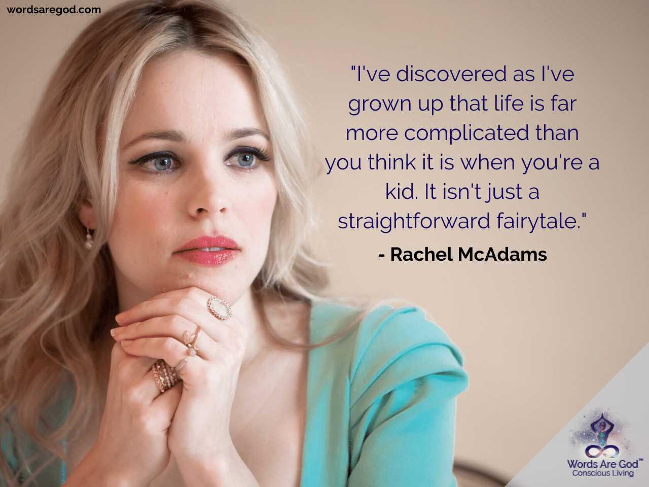 Rachel McAdams Best Quotes