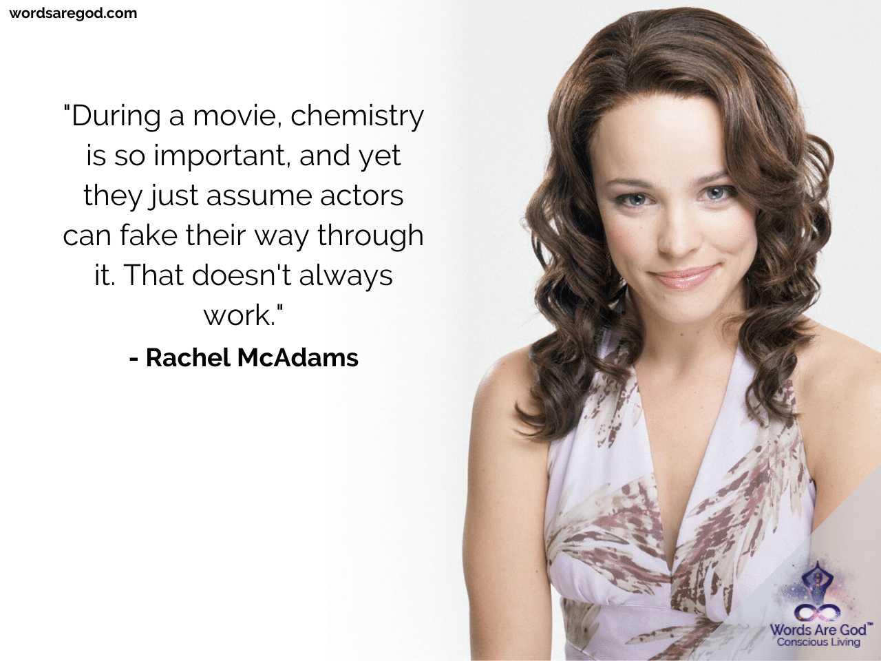 Rachel McAdams Inspirational Quotes