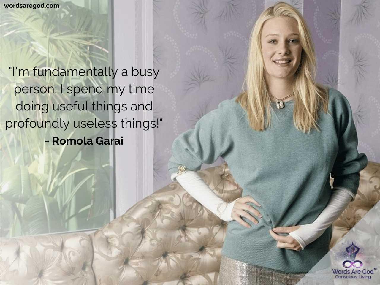 Romola Garai Best Quotes by Romola Garai