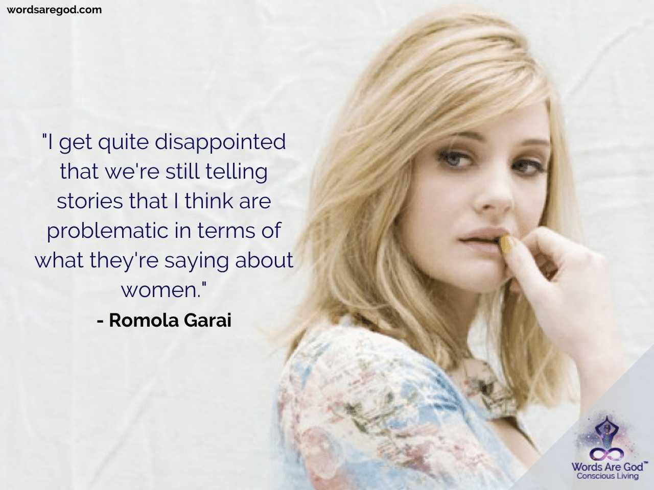 Romola Garai Inspirational Quotes