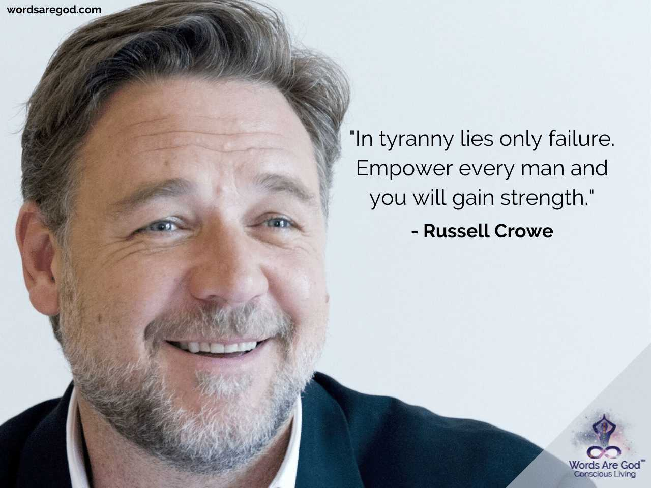 Russell Crowe Life Quotes by Russell Crowe