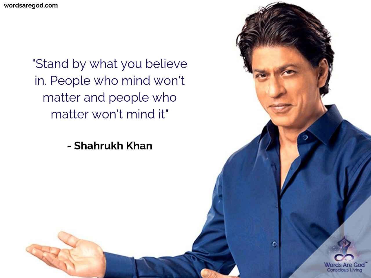 Shahrukh Khan Motivational Quote