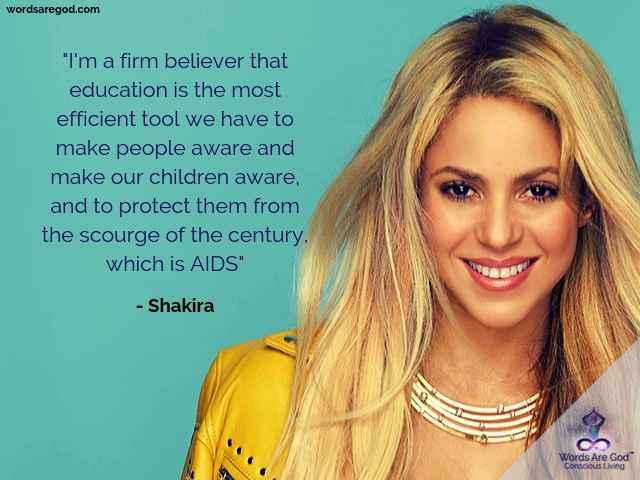 Shakira Inspirational Quotes