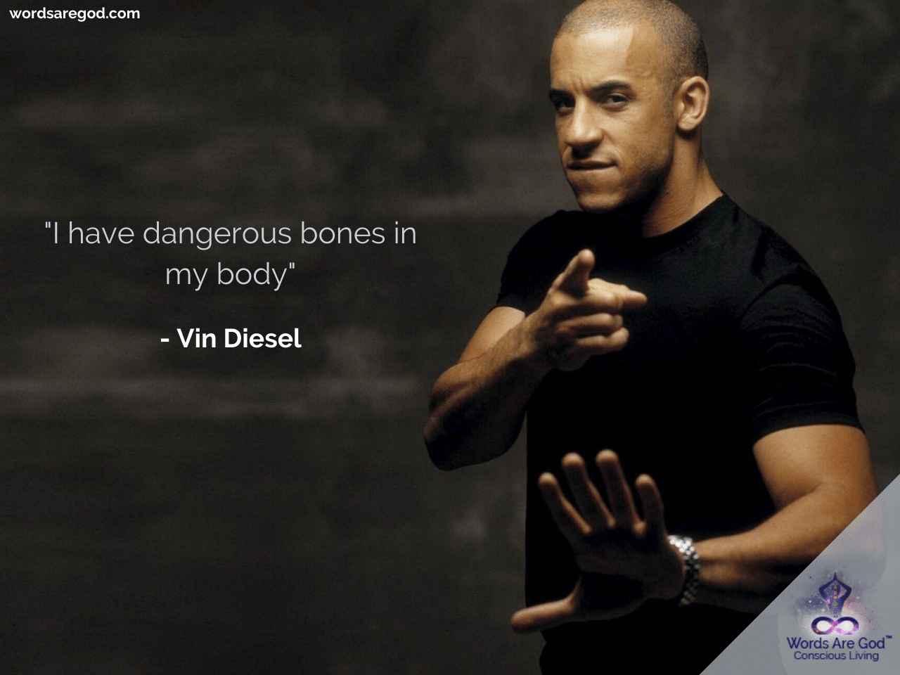 Zitate englisch diesel vin Vin Diesel