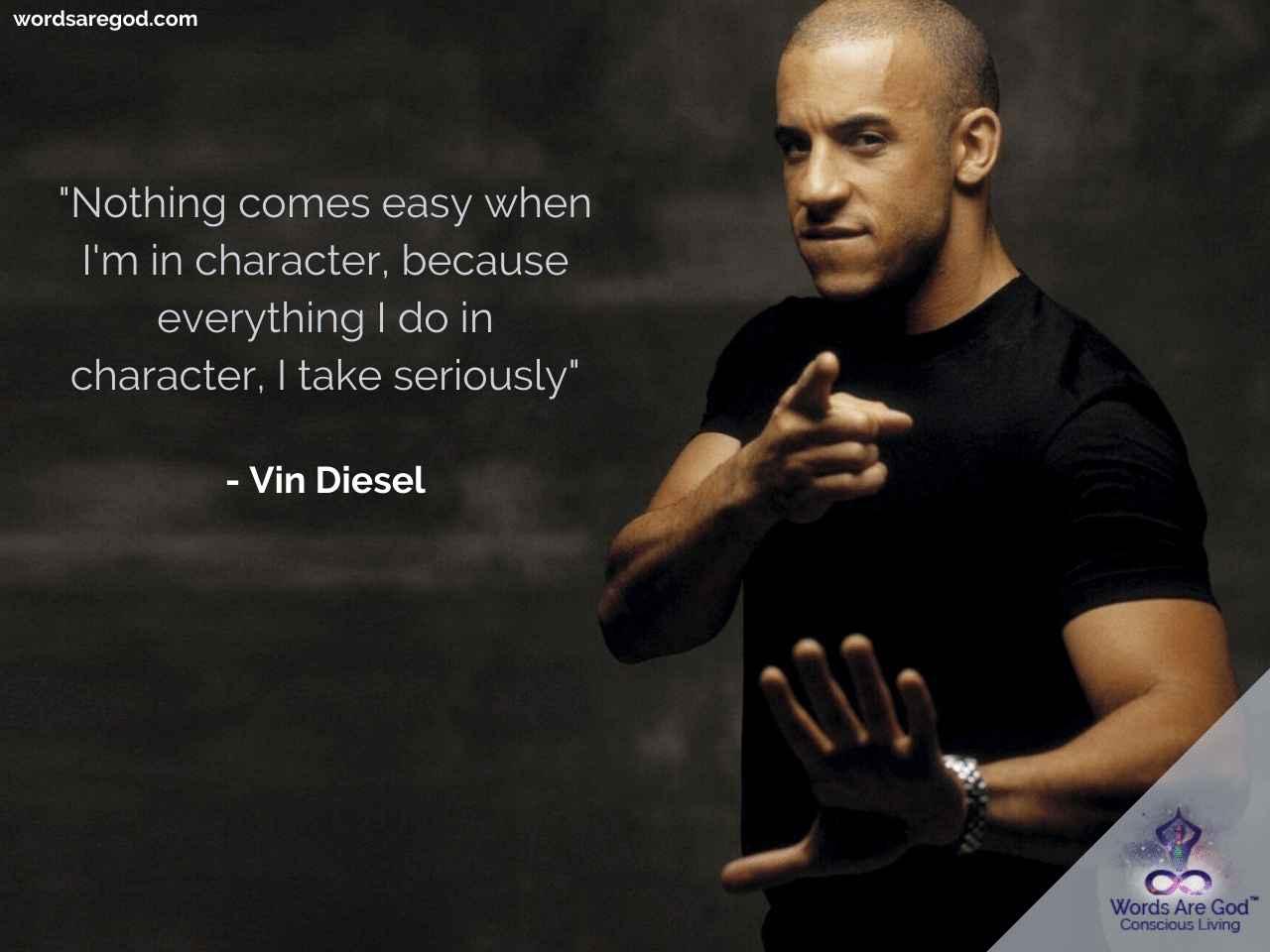 Vin Diesel Life Quote
