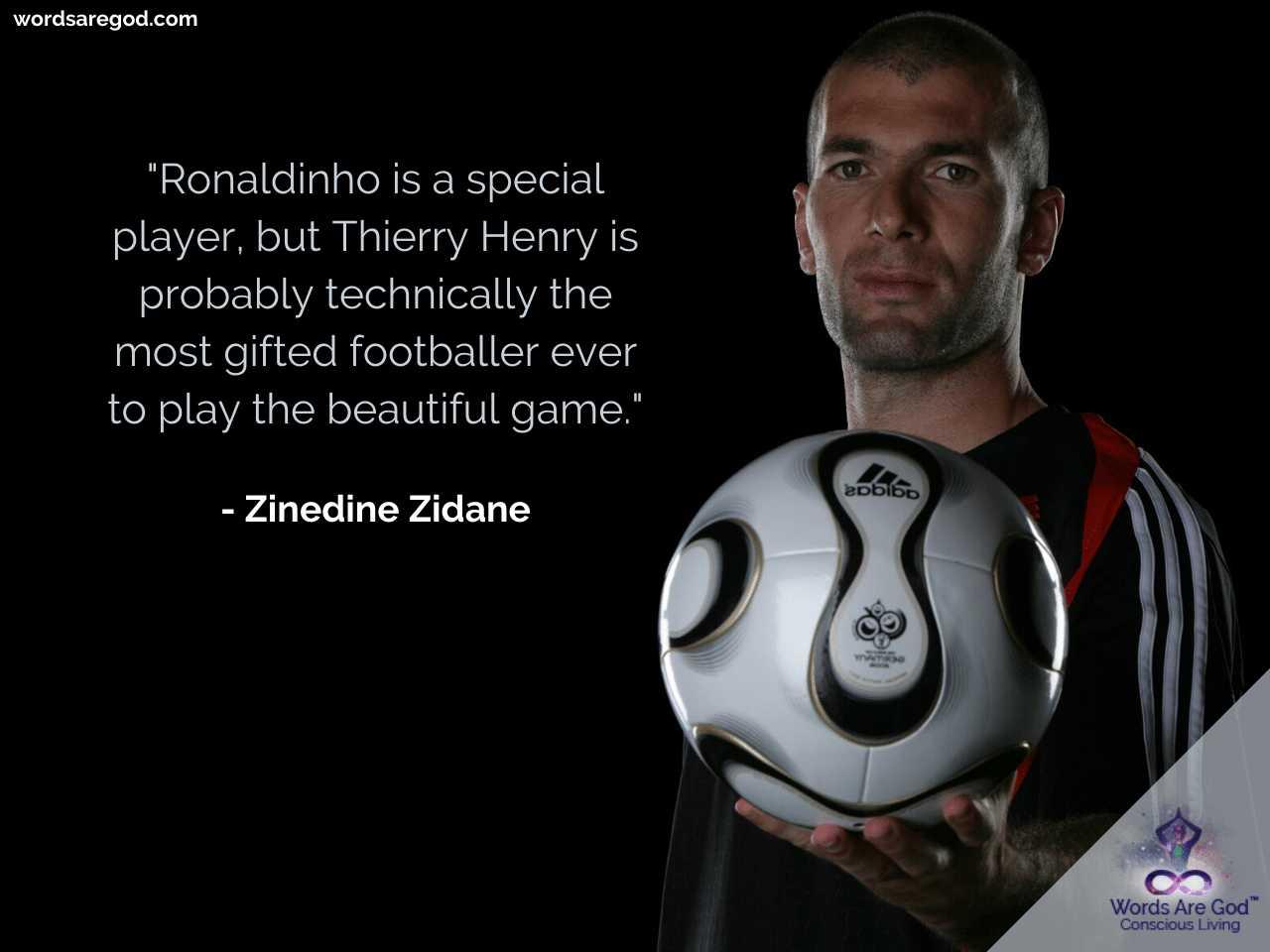 Zinedine Zidane Inspirational Quote